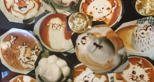 Latte art cafe à Tokyo, trop mignon trop bon !